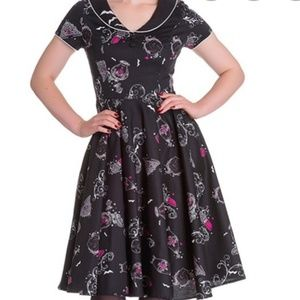 Hell Bunny Kalonice diner dress size small
